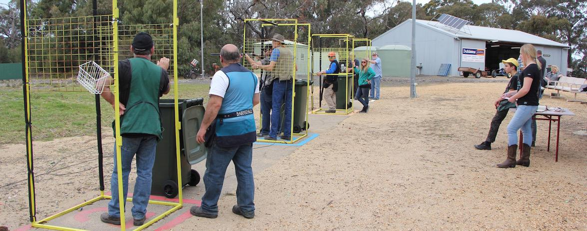 Come and Try Simulated field clay target shooting.